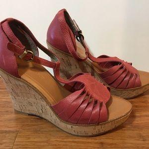 Banana Republic - Wedge Heel Sandal - leather